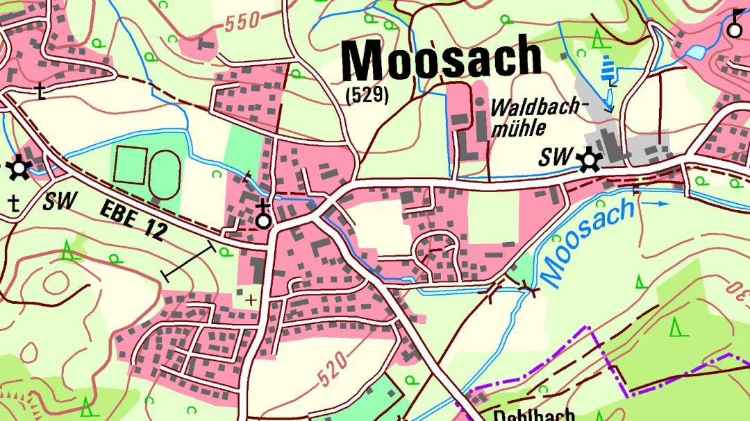 Topographische Karte Bayern.Bayerische Vermessungsverwaltung Produkte Topographische Karten