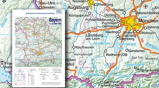 Bayerische Vermessungsverwaltung Produkte Topographische Karten