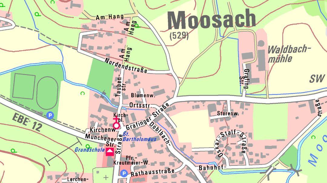 Karte Bayern.Bayerische Vermessungsverwaltung Produkte Topographische Karten