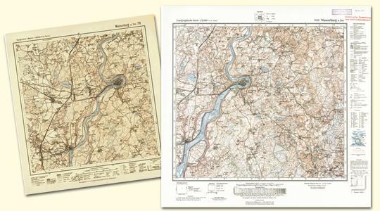 Topographische Karte Bayern.Bayerische Vermessungsverwaltung Produkte Historische Karten